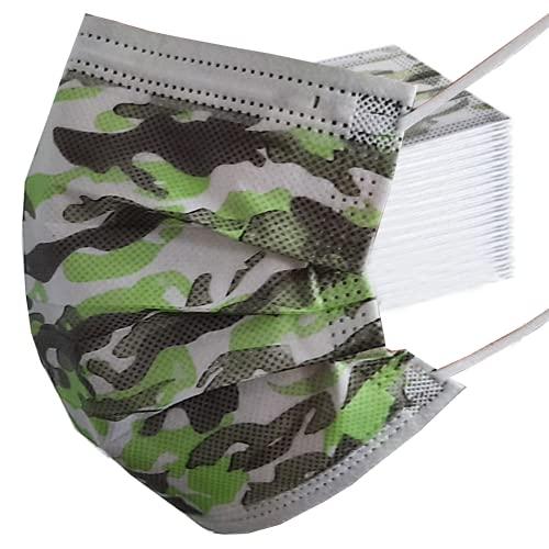 Armony Paris Maske für Kinder oder Erwachsene, Camouflage, mehrfarbig, 6-11 ans