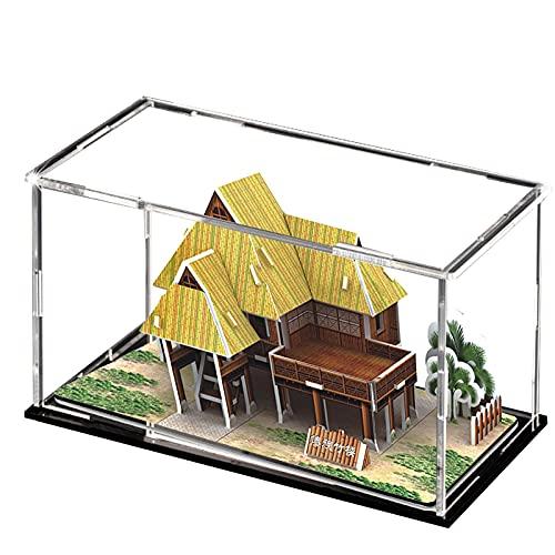 XINGLL Acrílico Vitrina Transparente, Cubo Transparente De Mostrador De Encimera, Figuras Coleccionables Juguetes Coches Modelos De Construcción Memorabilia Caja De Protección A Prueba De Polvo, Monta