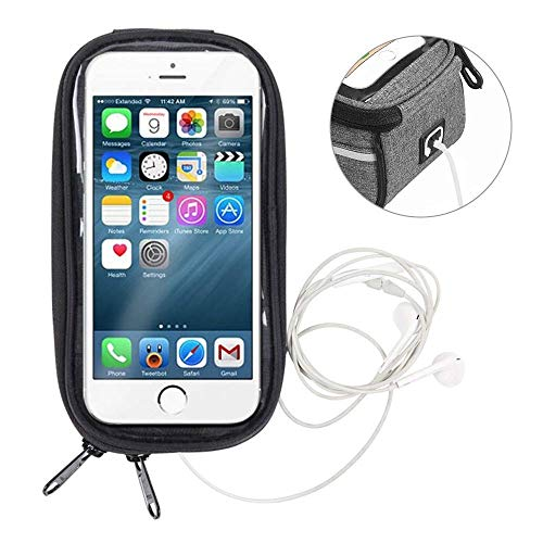 N/ A bicycle bag Inch Phone Holder Bike Bicycle Front Tube Bag Cycling Accessories Frame Waterproof Front Bags Cell Mobile Phone Case