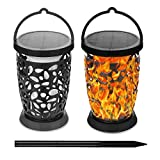 E-Able Power Solar Flickering Dancing Flame Light Solar Tiki Torches Waterproof Dust to Dawn Auto On/Off Decoration for Your Garden Yard Camping
