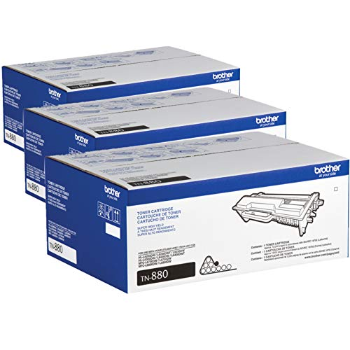 Brother Genuine Super High Yield Toner Cartridge, TN880, Replacement Black Toner, Page Yield Up to 12,000 Pages, Amazon Dash Replenishment Cartridge / 3-Toner Cartridges3