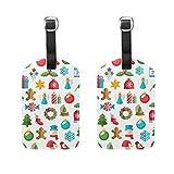 Montoj - Etiquetas para Maleta (2 Unidades, diseño de Feliz Navidad, 25 de diciembre)