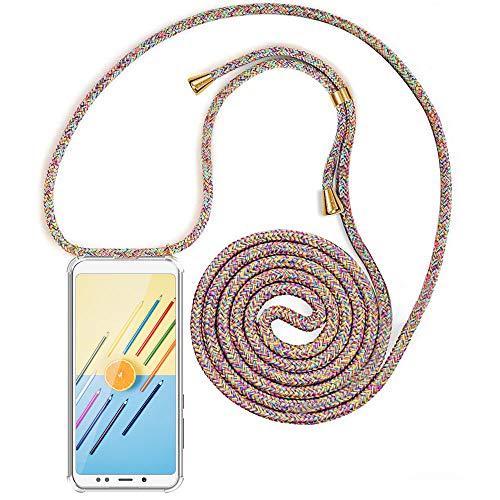 XCYYOO Handykette Handyhülle mit Band für Xiaomi Redmi Note 7 - Handy-Kette Handy Hülle mit Kordel zum Umhängen Handyanhänger Halsband Lanyard Hülle/Handy Band Halsband Necklace