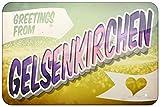 Grüße aus Gelsenkirchen, Postkarte Retro Look Eisen