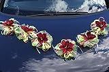 Lot de 7 pièces. -LA58 Fleurs orchidées Décoration de voiture à l'occasion d'un mariage  Nr.10