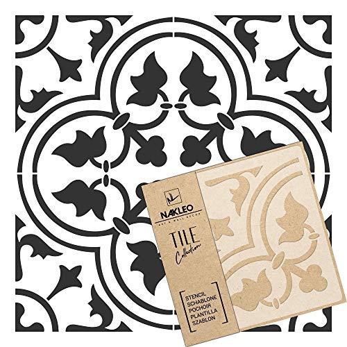 GOZO Wiederverwendbare Kunststoff-Schablone Fliese / / Marokkanische Geometrische / / Boden Wand (30x30cm)