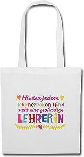 Spreadshirt Lehrerin Mit Liebe Lebensfrohe Kinder Spruch Stoffbeutel