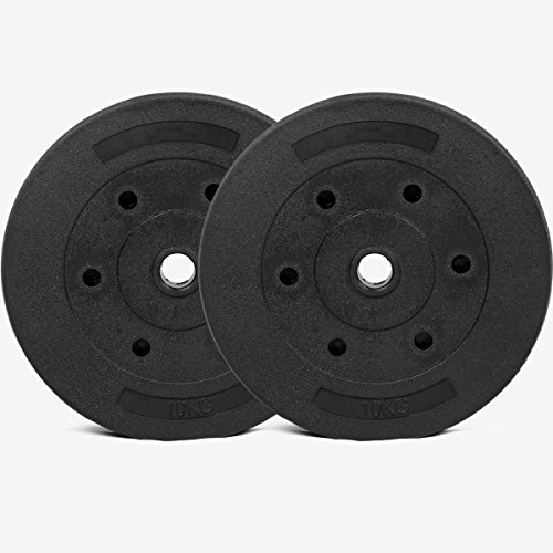 Gallant Weight Plates 10kg x2 Standard 1 Inch Vinyl Plates Discs 20kg Set For Free Weights Lifting Dumbell Barbell Home Fitness Exercise Equipment