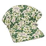 OUTLIV. Polsterauflage Elegance Royal Garden Niederlehner Auflage 75x48 cm Sitz- Rückenkissen Efeu Sitzauflage für Gartensessel und Gartenstuhl