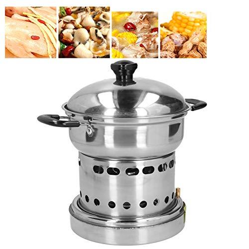 Estufa de olla caliente de acero inoxidable, manija anti escaldado de la estufa de olla caliente para el hogar para exteriores