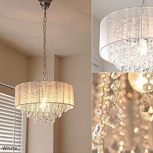 Saint Mossi Moderne K9 Kristall Regentropfen Kronleuchter Beleuchtung Unterputz LED Deckenleuchte Pendelleuchte für Esszimmer Badezimmer Schlafzimmer Wohnzimmer Breite 43 x Höhe 27 cm - 3