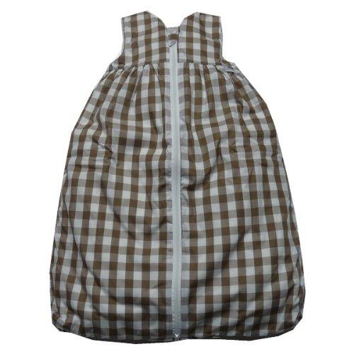 TAVO Schlafsack Teddyfutter großes Karo Größe: 110 Farbe: braun-weiß
