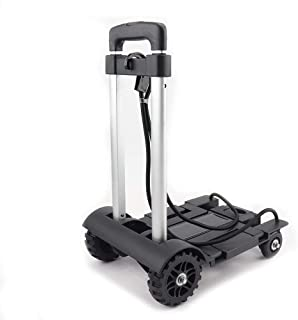 nuodun Aluminum Folding Portable Luggage Cart Folding Hand Truck Portable Fold Up Dolly for Luggage, Personal, Travel, Aut...