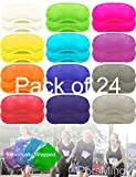 Eye Mask Sleep Masks Pack of 36 PorsMing Sleeping Mask Blindfold Eye Cover Team Building Games Party with Nose Pad and Adjustable Strap for Women Men Kids 4 Layers Colors (12 Color 24 Pieces)