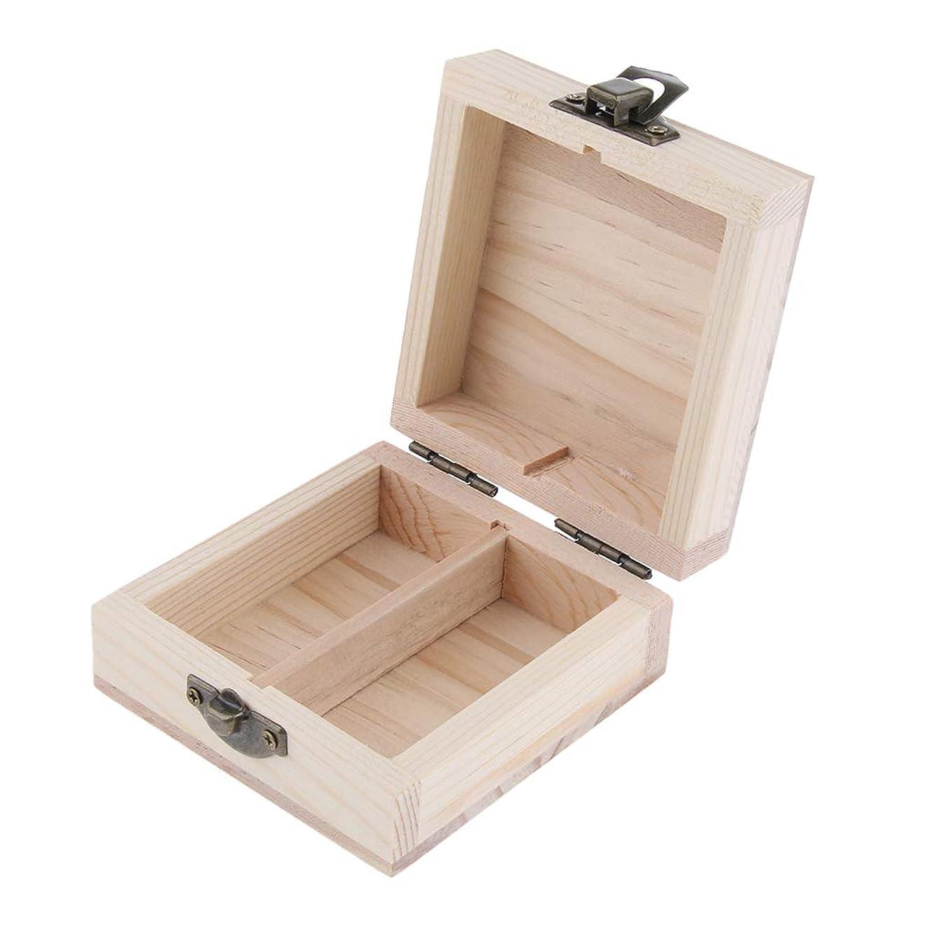 たまに利益ステージBaoblaze エッセンシャルオイルケース アロマケース 木製 2本入れ 展示用 15ミリボトル