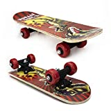 Flagman Shop Skateboards Collection Complete Skateboards for Beginners Boys Girls Adults Youth Standard Skateboards with 7 Lays Maple Deck Pro Skateboards, Longboard Skate Boards (23 inch, T-Rex)
