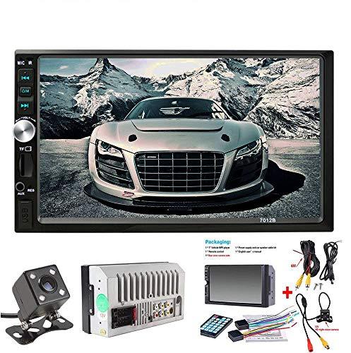 Doble DIN estéreo para Coche, Pantalla táctil de 7 Pulgadas, Radio de Coche MP3/MP5/FM, Compatible con Bluetooth/USB/TF con Mando a Distancia (7in)
