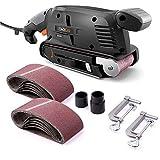 TACKLIFE 600W Belt Sander with 12Pcs Sanding Belts 75x457MM, Dust...
