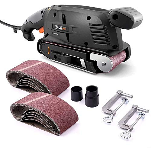 TACKLIFE 600W Belt Sander with 12Pcs Sanding Belts 75x457MM,...