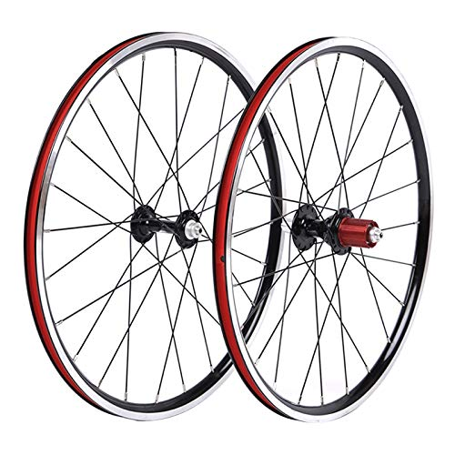 QHY Ruedas BMX Juego Ruedas Bicicleta 20' Llanta Aleación Doble Pared 451 24h Negro 8-10 Velocidades QR Casete Cubo Rayo Acero Rueda Delantera Trasera