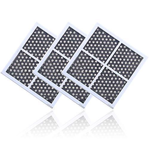 3 Pcs Filtro Frigorifero, Sostituzione Filtro Aria, Frigorifero per eliminare gli odori, per LG LT120F Kenmore Elite 469918 Frigorifero congelatore