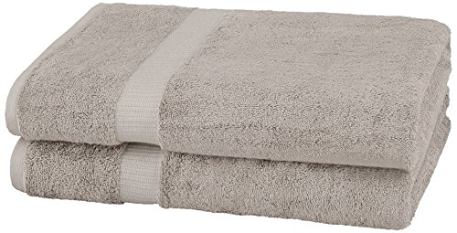 Pinzon Organic Cotton Bath Sheet Towel, Set of 2, Marble Grey