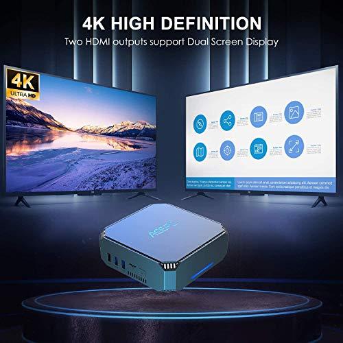 "Mini PC,ACEPC AK2 Windows 10 Pro 8GB RAM+128GB ROM Intel Celeron J3455 Micro Desktop Computer, Support 2.5""SSD/Dual HDMI /1000Mbps LAN/Dual Band Wifi/Bluetooth 4.2 / 4K HD/USB 3.0"