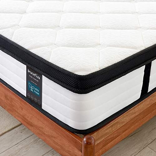 Inofia Single Mattress 3FT Latex Memory Foam Mattresses with Pocket Sprung,27cm LATEXCH Bi-density Technology for Maintaining Superior Ventilation (90 x 190cm)