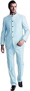 بدلة رجالية من UMISS بتصميم نحيف وفريد من نوعه من خمس أزرار من قطعتين جاكيت وبنطال