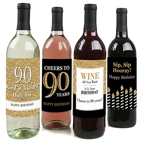 Funny Wine Bottle Label Stickers - Set of 4