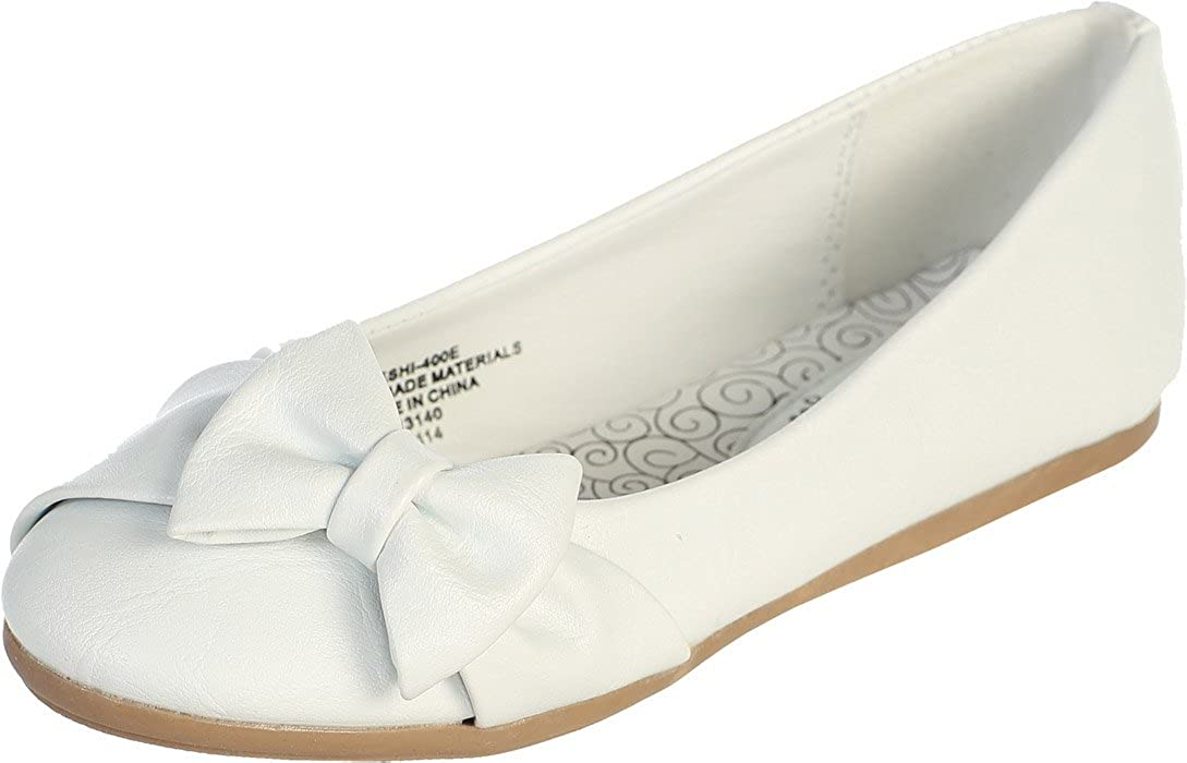 Flats with Bow 10 Max 70% OFF White Free shipping