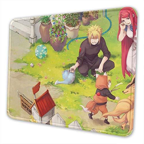 Naruto Kyuubi - Alfombrilla de ratón rectangular de goma antideslizante para juegos (8,3 x 26,2 cm)