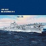 XIUYU Modèle assemblé Navire de Guerre, 1 350 Echelle USS Enterprise CV-6 Porte-Avions, Navire de Guerre assemblé modèle for Adulte Enterprise
