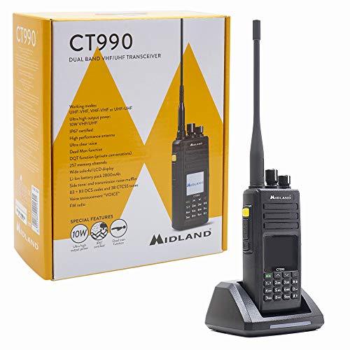 Radio Ricetrasmettitore Dual Band VHF UHF portatile 10W - CT990 - MIDLAND C1339