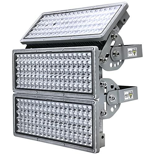 LED Flutlicht 300W LED Strahler Flutlichtstrahler 6500K 30000lm Außenstrahler IP67 Wasserfest Außen fluter mit 3 Modulen mit einstellbarem Winkel Für Sportplatz Garten