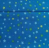 Sterne Blau BIO-Baumwollstoff kbA Westfalenstoffe * Junge