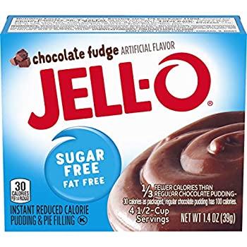 Jell-O Instant Chocolate Fudge Sugar-Free Fat Free Pudding & Pie Filling  1.4 oz Boxes Pack of 24