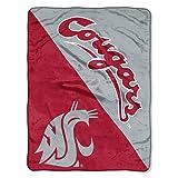 The Northwest Company Washington State Cougars 'Halftone' Micro Raschel Throw Blanket, 46' x 60' , Red