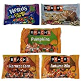 Brachs Candy Corn Seasonal Halloween Candy Variety Pack - Harvest Corn, Autumn Mix, Mellowcreme Pumpkins, Nerds Candy Corn, and Turkey Dinner with Apple Pie and Coffee - 70.6 oz Total
