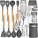 Silicone Cooking Utensils Kitchen...