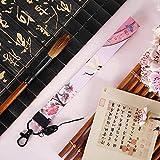 Jingyinyi Handy-Lanyard, kurzes Breitband, langes Handgelenk, Abnehmbarer Hals, Damenaccessoires, Handy mit Anhänger, Persönlichkeit und Kreativität-Pink Crane Crane Lanyard