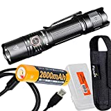 Fenix PD35 v3.0 Tactical Flashlight, 1700 Lumens with USB Rechargeable Battery and Lumen Tac Battery Case