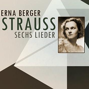 Strauss: Sechs Lieder