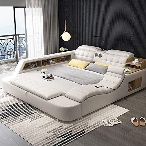 ABOTHB Modern bed design modern bedroom furniture leather fabric bed and storage bedroom set