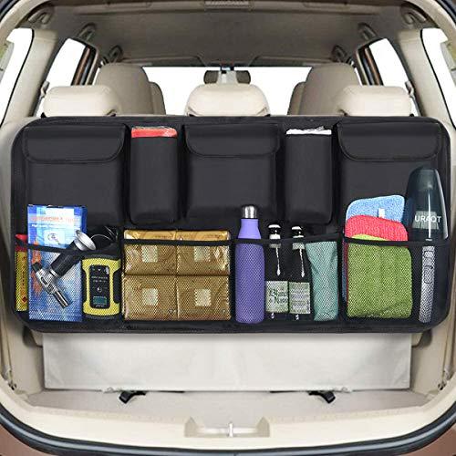 URAQT Organizer Auto, Protezione Sedile Auto Bambini Impermeabile, con Multi-Tasca dell'Organizzatore e Pocket, Organizer Bambino per Sedile Auto, Organizzatore e Portaoggetti Universale (Grandi)