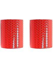 BigTron Cinta adhesiva reflectante de alta calidad, de seguridad, resistente a la intemperie, 2 rollos, 5 cm x 3 m