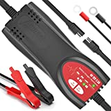 Ampeak Car Battery Charger: 6V/12V 2.5A Automatic Trickle Charger Maintainer for Marine Motorcycle Truck RV Lawn Mower