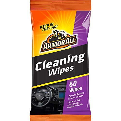 Armor All Car Interior Cleaner Wipes for Dirt & Dust - Cleaning for Cars & Truck & Motorcycle, 60 Count, 19266