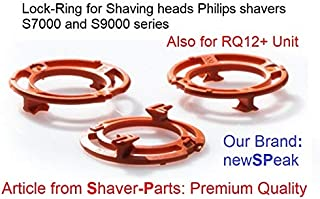 Lock-Ring (Retaining-Plate, Blade Holder) for Philips Shaving Heads Model/Type SH70 and SH90 (Colour Orange) for Shaver Series S7000 & S9000 (and Replacement RQ12 Plus+)