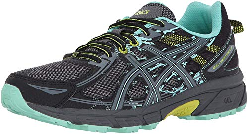 ASICS Women's Gel-Venture 6 Running-Shoes,Black/Carbon/Neon Lime,9 Medium US
